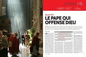 Le Pape qui offense Dieu Retour sur la mise en cause de ... - rts.ch