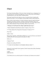 The Project Gutenberg EBook of Cheri, by Colette Copyright ... - Umnet