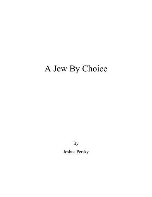 A Jew By Choice