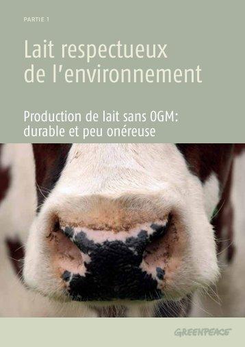Production de lait sans OGM durable et peu onéreuse - CSA