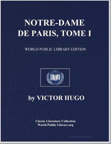 NOTRE-DAME DE PARIS, TOME I - World eBook Library