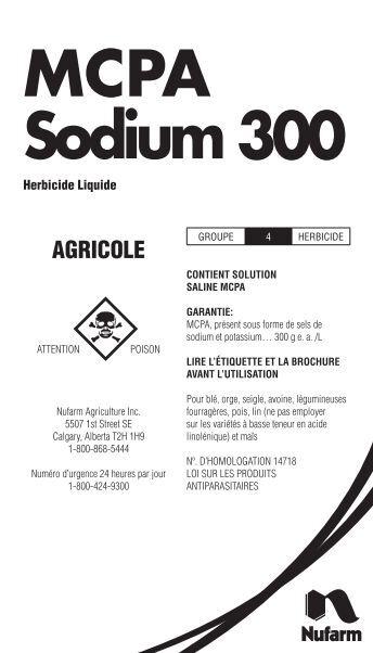 MCPA Sodium 300 - Nufarm Canada