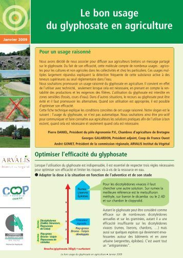 Glyphosate magazines for Chambre agriculture mayenne