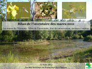 Bilan de l'inventaire des mares 2011 - NaturEssonne