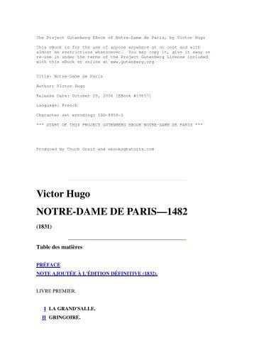 Victor Hugo NOTRE-DAME DE PARIS—1482