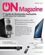 ON Magazine - Guide du multimédia audiophile 2013