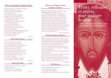 Textes, réflexions et prières, pour soulager le cœur - Abadia de ...