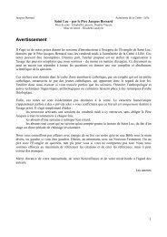Introduction + Chapitre 1 - Aumônerie