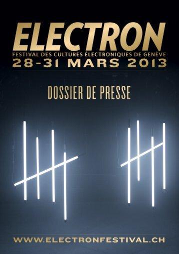 Télécharger le dossier de presse - Electron Festival