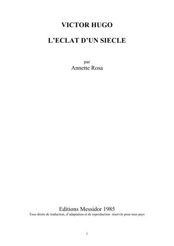 Victor Hugo, l'éclat d'un siècle - Groupe Hugo