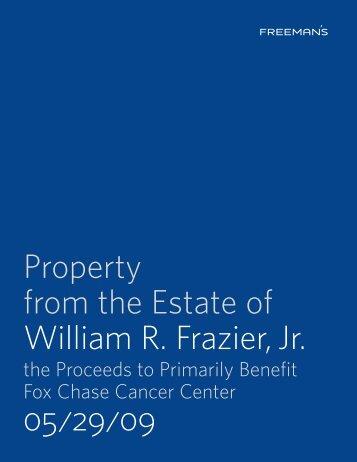William R. Frazier, Jr. 05/29/09 - Freeman's Auctioneers