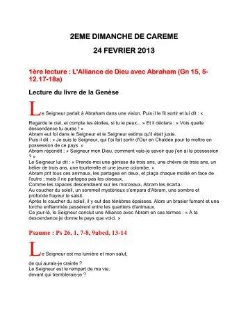 2eme dimanche de careme 24 fevrier 2013 - Paroisse Cordes Vaour