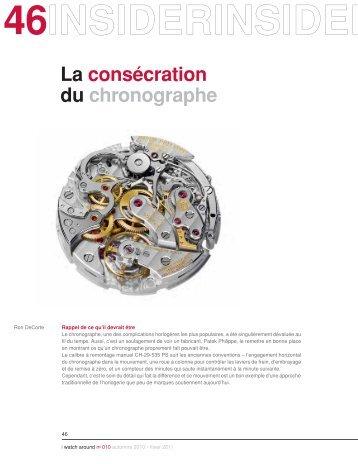 La consécration du chronographe - Watch Around