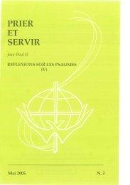 Prier et Servir - Nº 3 - Mai 2005 - Apostleship of Prayer