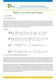 Thème 7: Le Maître qui t'envoie - JMJ Rio 2013