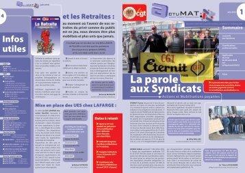 ActuMAT - Juin 2010 - Fédération Nationale des Salariés de la ...