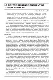 LE CENTRE DU RENSEIGNEMENT DE TOUTES SOURCES