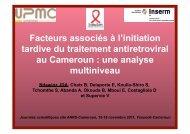 Facteurs asociés à l'initiation tardive du traitement ARV au ... - ANRS
