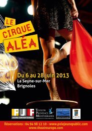 Le flyer du programme du cirque Alea