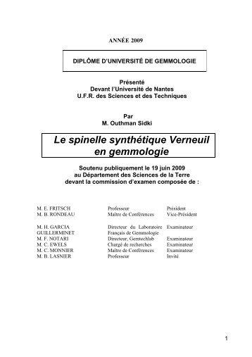 Le spinelle synthétique Verneuil en gemmologie - GemNantes