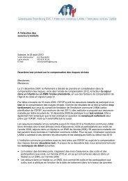 A l'attention des assureurs-maladie Soleure, le 25 août 2010 ...