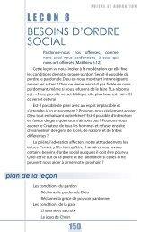 Leçon 8 : Besoins d'ordre social - Global University - GlobalReach.org
