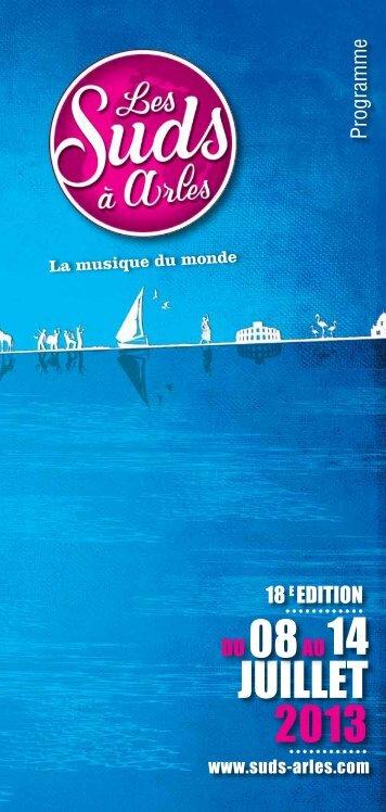 Programmation du Festival - Les Suds à Arles