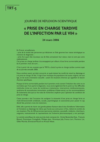 prise en charge tardive de l'infection par le vih - TRT-5