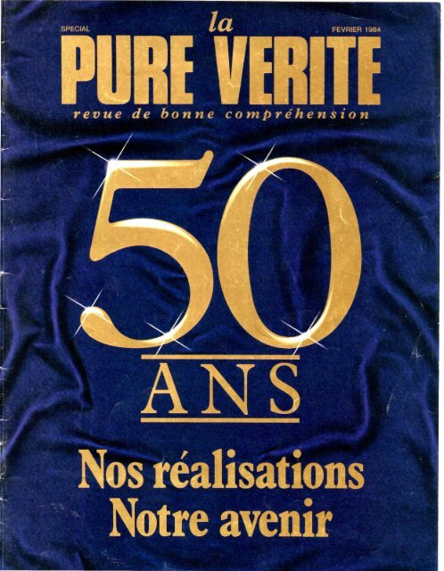 Pure Verite 1984 (No 02) Fev - Herbert W. Armstrong Library and ...