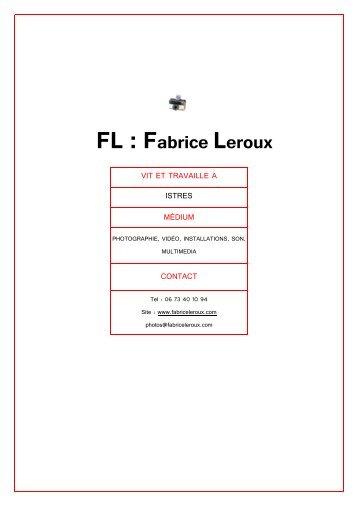 Dossier Fabrice_Leroux - Fabrice Leroux Photographies