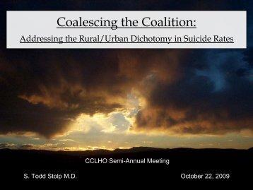 Coalescing the Coalition - California Department of Public Health