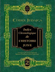 de L'HISTOIRE JUIVE - Codex Judaica Chronological Index of ...