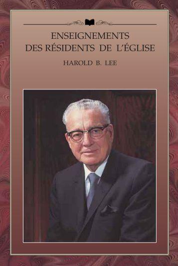 Harold B. Lee - Eglise de Jésus-Christ des Saints des Derniers ...