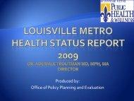 2009 Health Status Assessment Overview - Louisville Metro ...