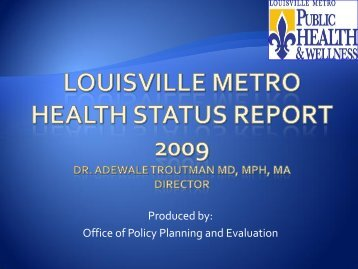 2009 Health Status Assessment Overview - Louisville Metro ...