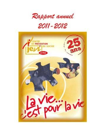 Rapport annuel 2011-2012 - JEVI Centre de prévention du suicide ...