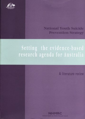 Setting the evidence-based research agenda for Australia