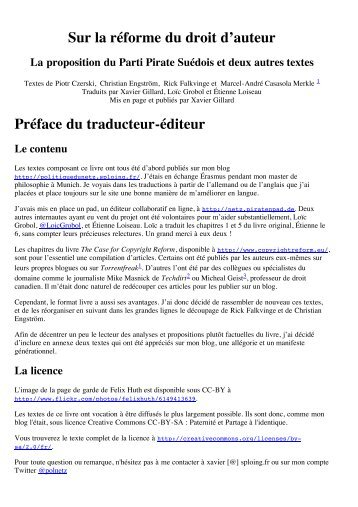 Sur la réforme du droit d'auteur - daryo.net