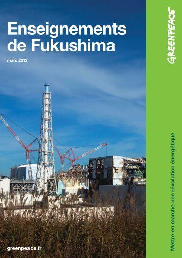 Enseignements de Fukushima - Greenpeace