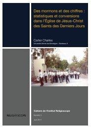 Des mormons et des chiffres : statistiques et ... - Religioscope