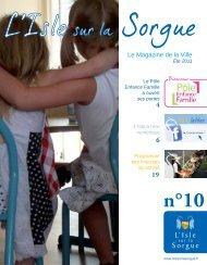Le Mag n°10 - Mairie de L'Isle sur la Sorgue