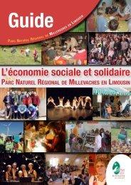 L'économie sociale et solidaire - Parc Naturel Régional de ...