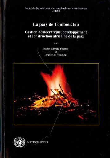 La paix de Tombouctou Gestion démocratique ... - UNIDIR