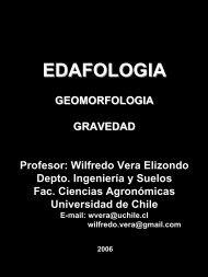 Gravedad - Facultad de Ciencias Agronómicas - Universidad de Chile