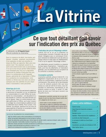 La Vitrine vol. 6, no 3 - Détail Québec