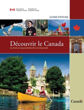 Découvrir le Canada: les droits et responsabilités liés à la citoyenneté