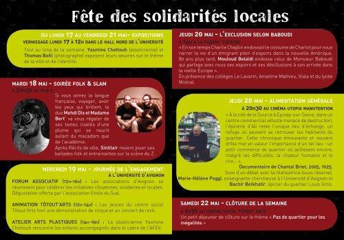 Fête des solidarités locales - Animafac