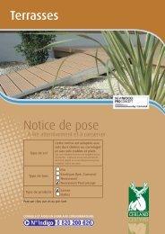 Terrasses Notice de pose - Cerland