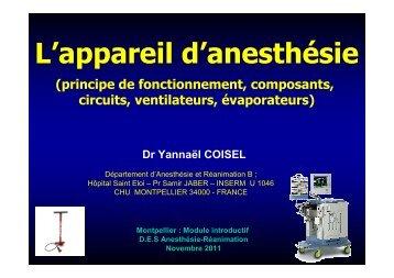 Coisel - Ventilateurs en anesthesie rea.pdf - CHU - Montpellier