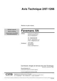 Avis Technique > France - Favemanc